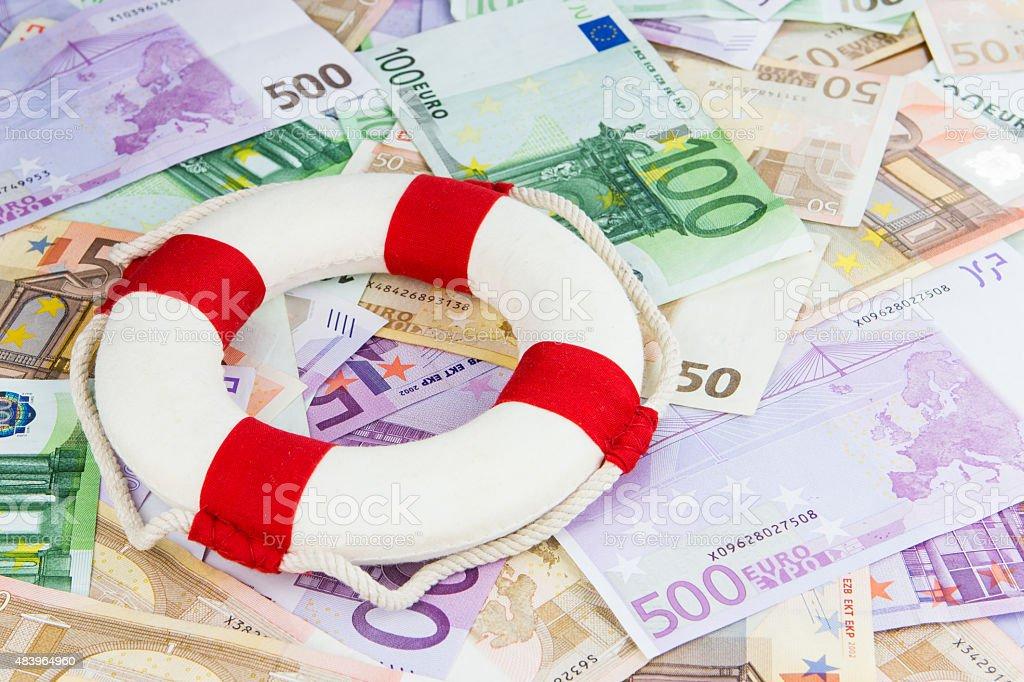 Euro lifesaver stock photo