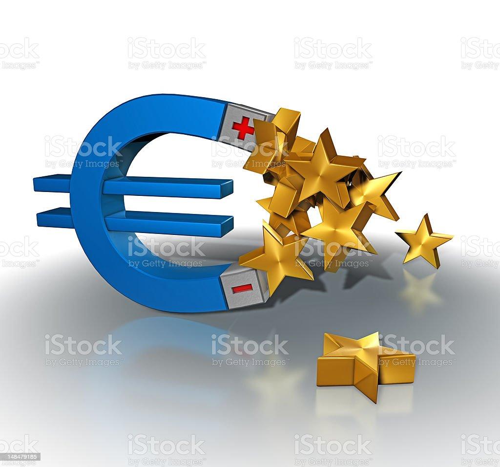 Euro Magnet stock photo