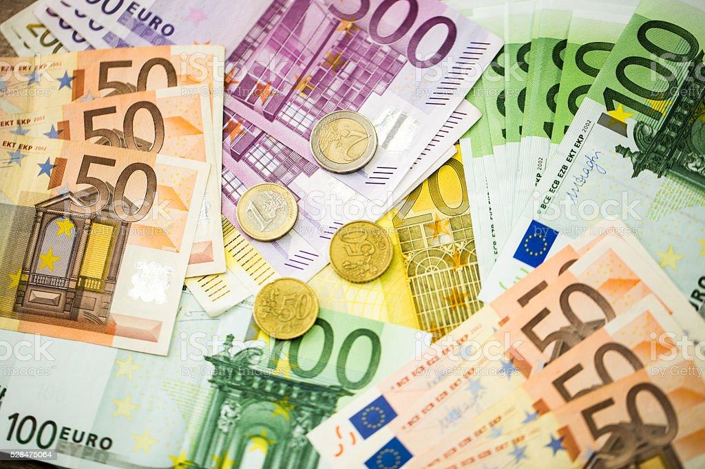 Euro Money Banknotes as background stock photo