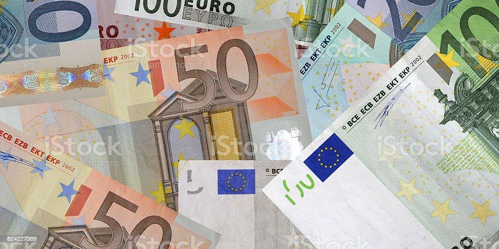 Euro money banknotes background concept stock photo
