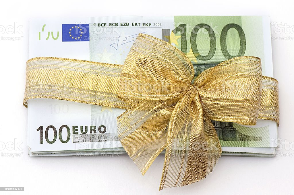 Euro Money Gift royalty-free stock photo