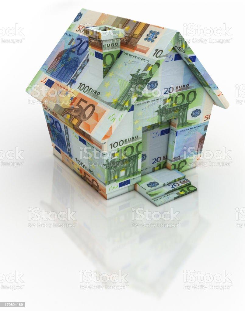 Euro Money House royalty-free stock photo