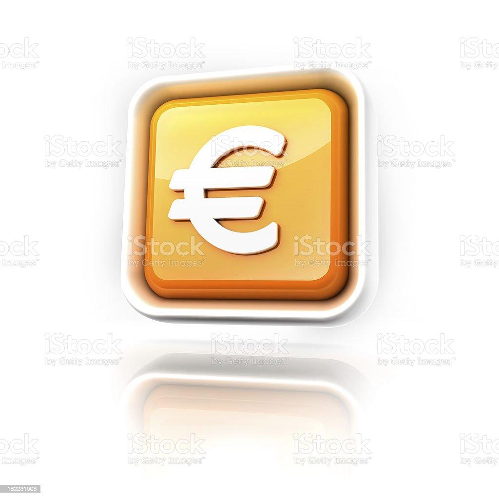 Euro money icon royalty-free stock photo
