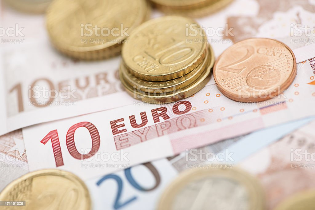 Euro money macro stock photo