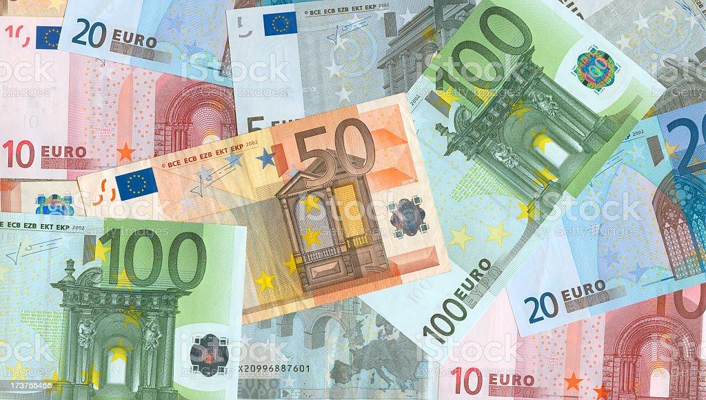 Euro Money Notes Background stock photo