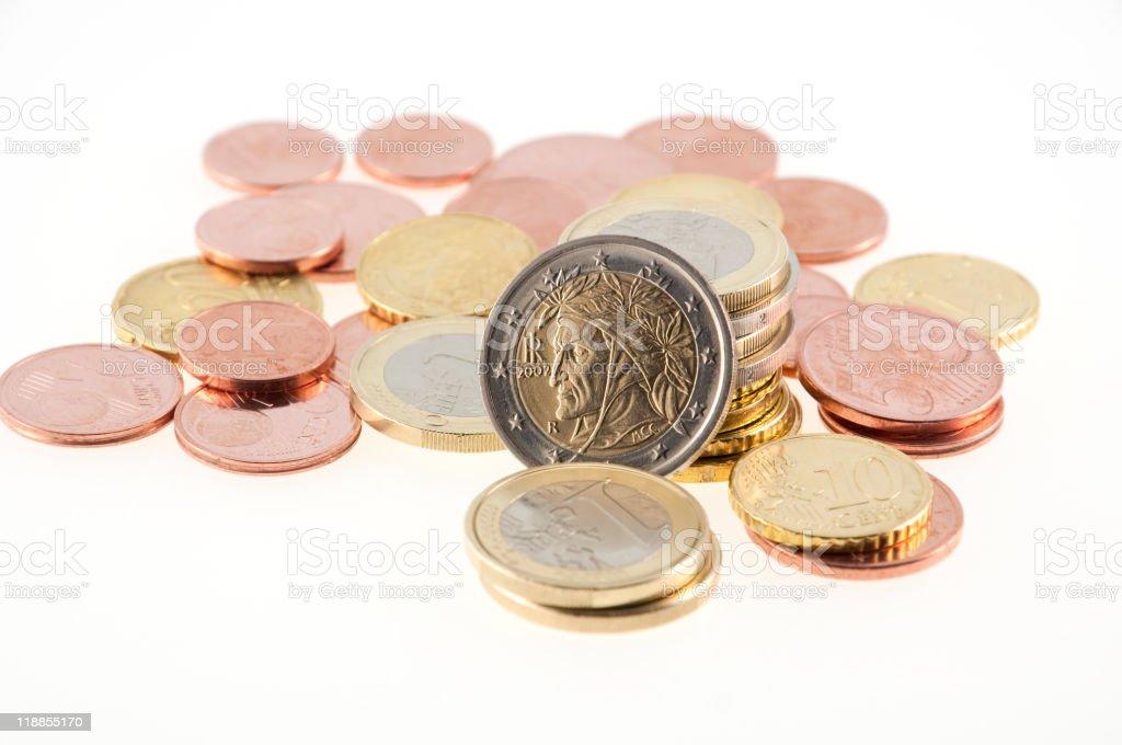 euro money stack royalty-free stock photo