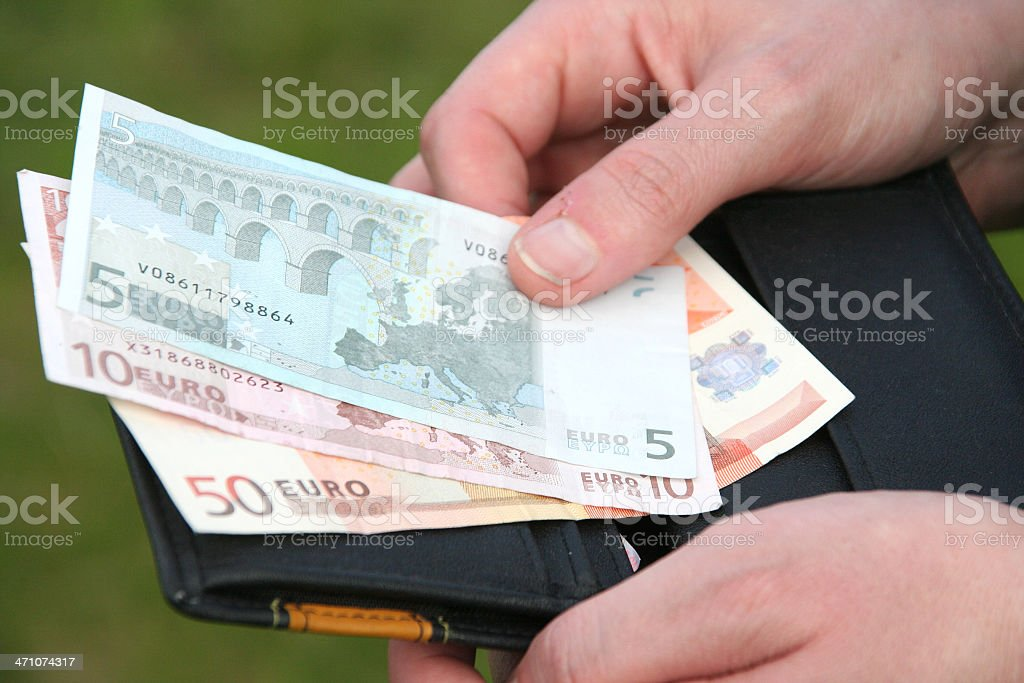 euro money,wallet,hands royalty-free stock photo