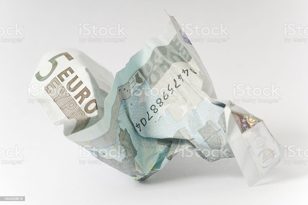5 Euro note stock photo