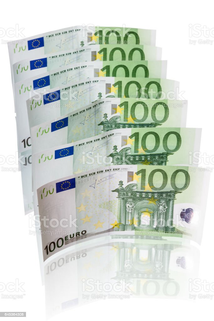 100 Euro note stock photo