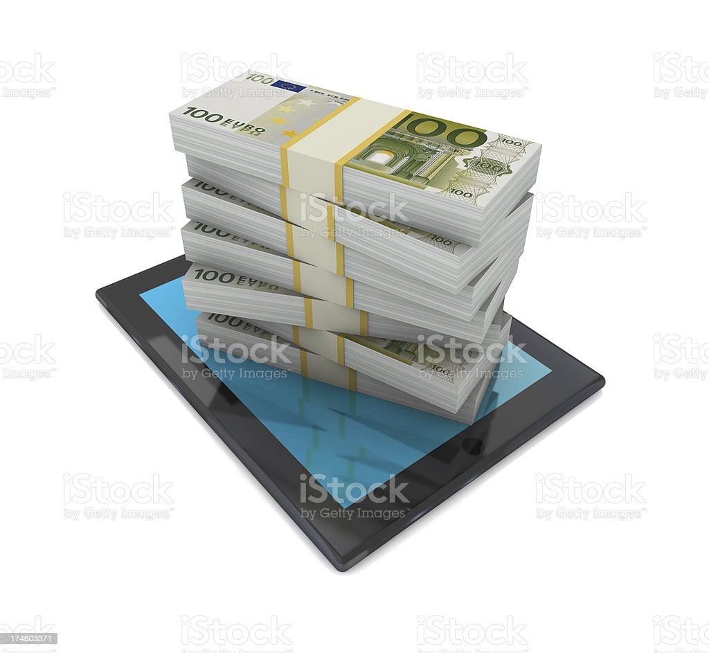 Euro on Tablet PC royalty-free stock photo