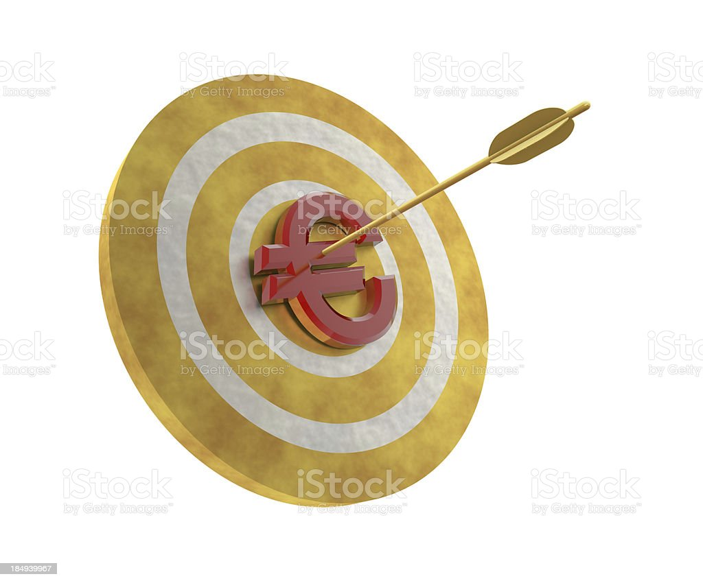 Euro on Target royalty-free stock photo