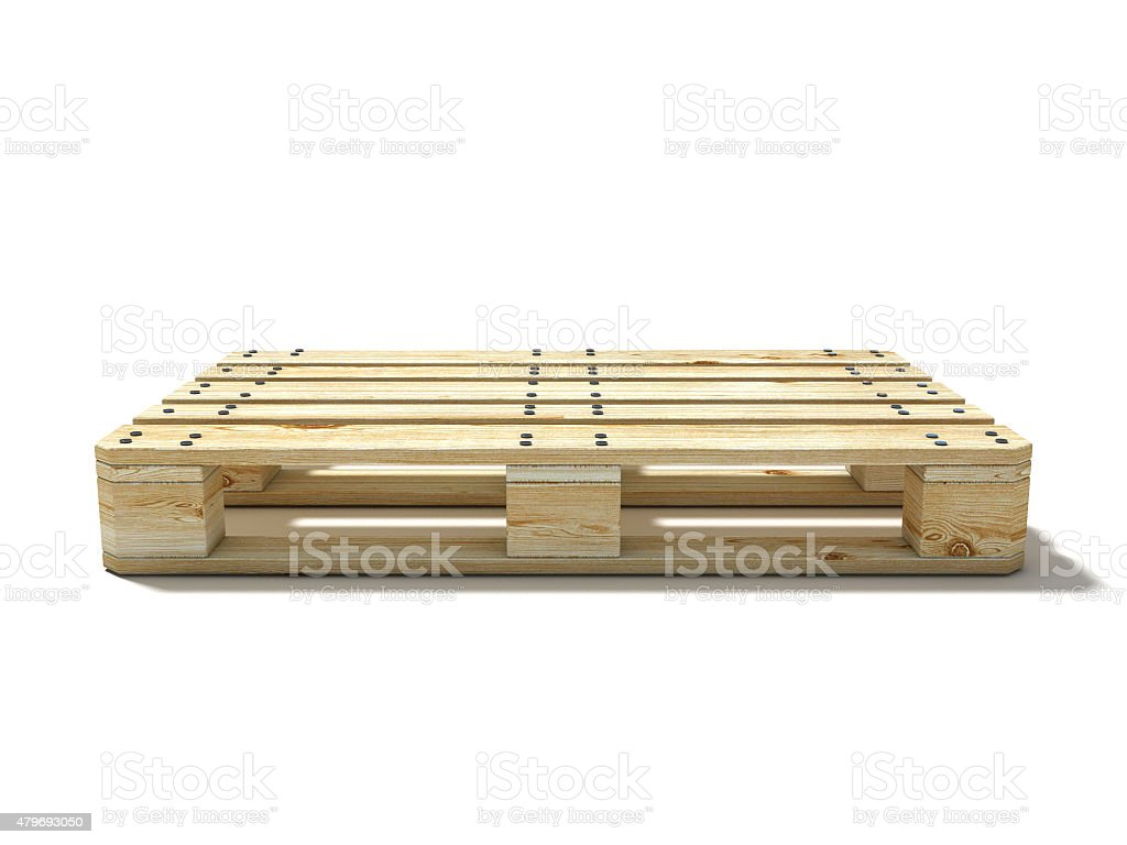 Euro pallet. Side view stock photo