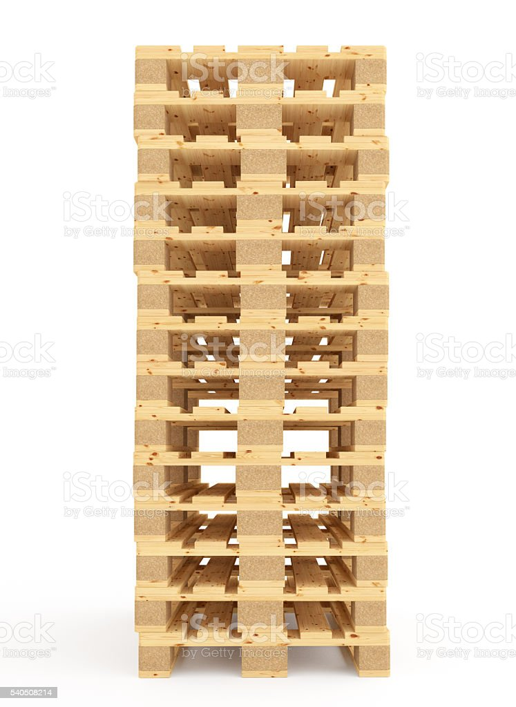 Euro pallets. stock photo