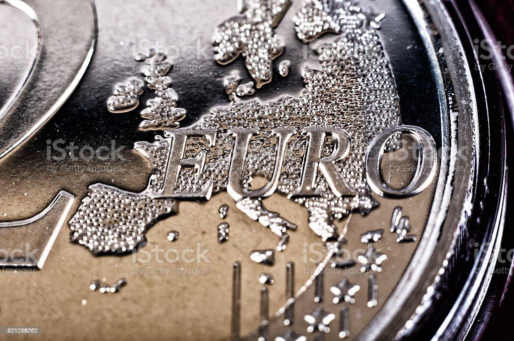 2 euro stock photo