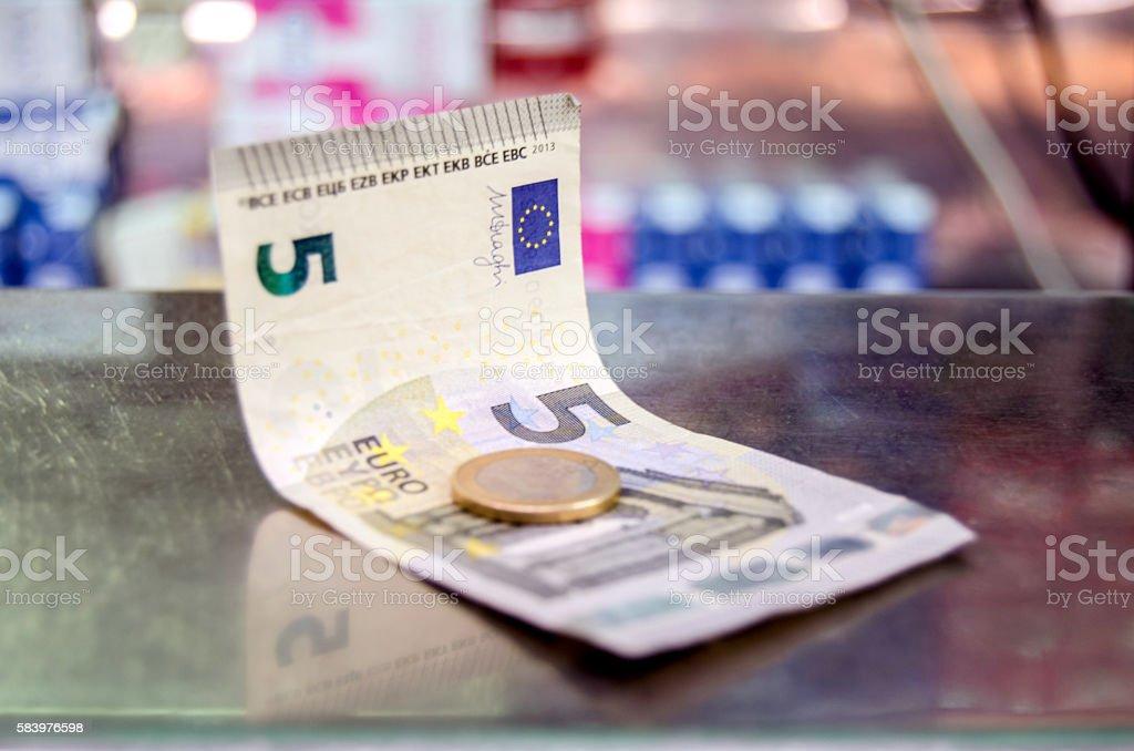 6 euro stock photo