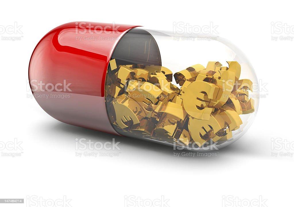 Euro pill royalty-free stock photo