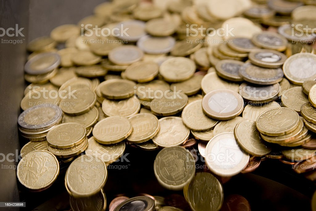 Euro Plunges into the Abyss stock photo