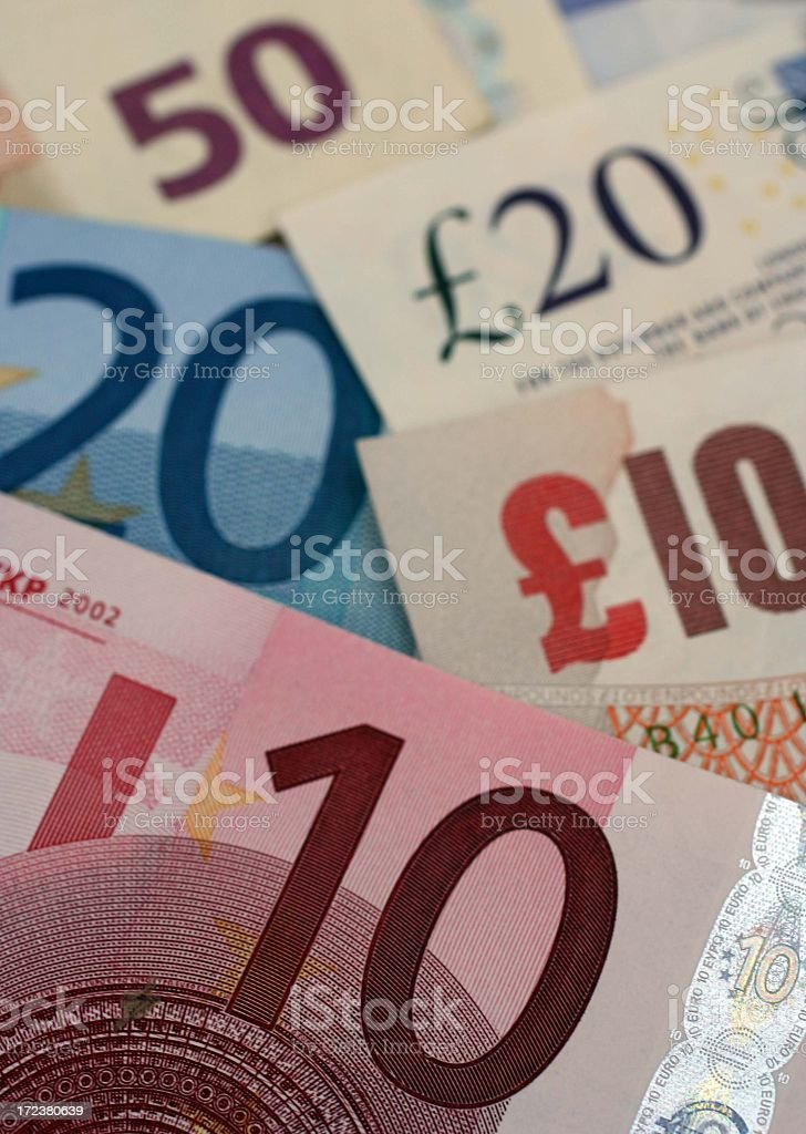 euro pound exchange stock photo