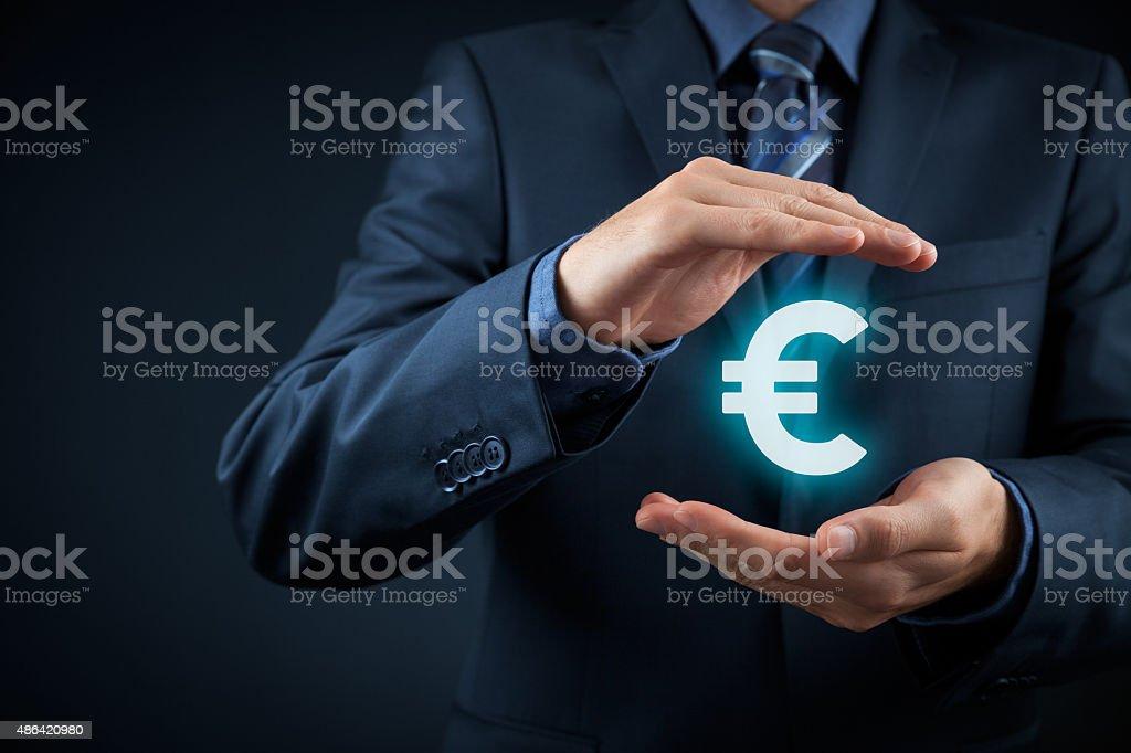Euro protection stock photo