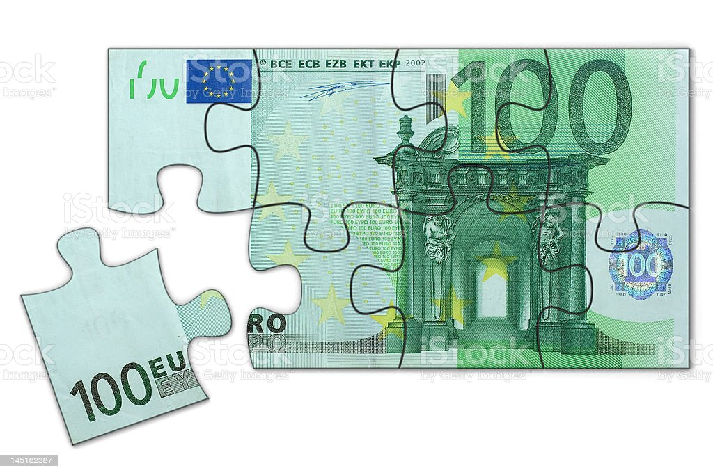Euro puzzle royalty-free stock photo