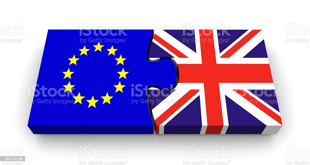 UK Euro Puzzle royalty-free stock photo