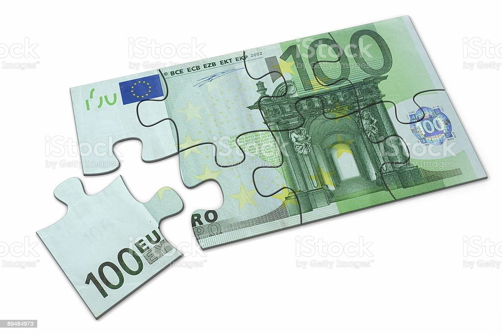 Euro puzzle royalty-free stock photo