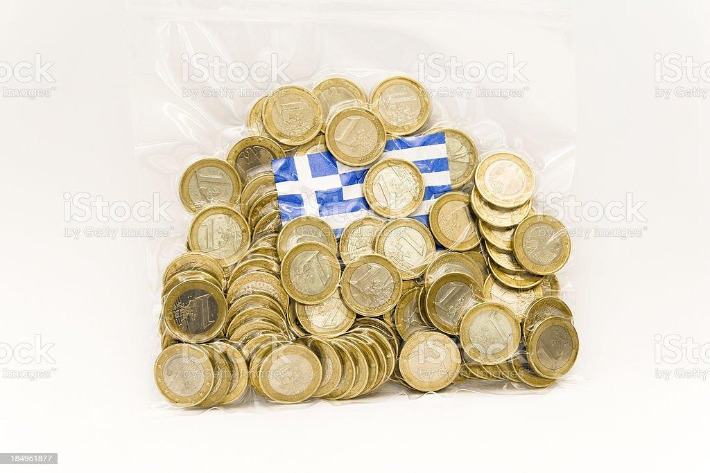 Euro Rescue Bag for Greece royalty-free stock photo