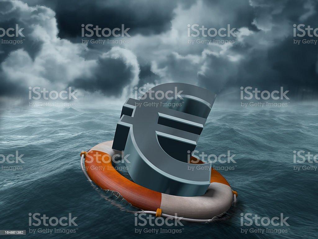 Euro rescue royalty-free stock photo