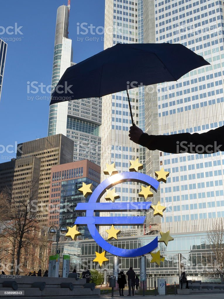 Euro Rescue Umbrella stock photo