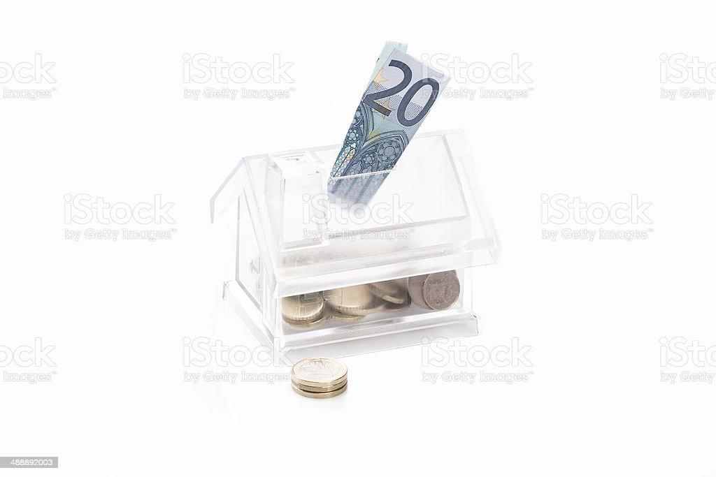 Euro ahorros foto de stock libre de derechos