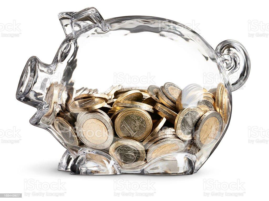 Euro Savings Piggy Bank stock photo