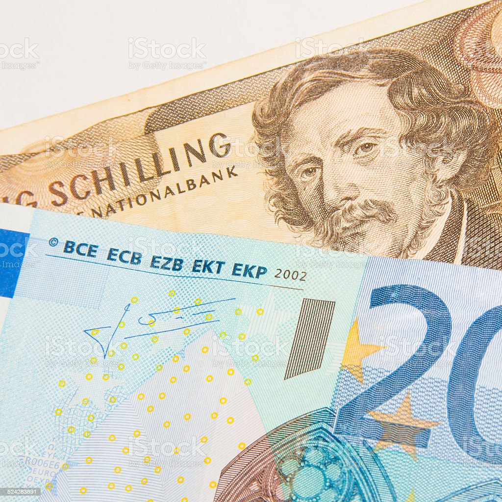 Euro - Schilling - Better Before or After stock photo