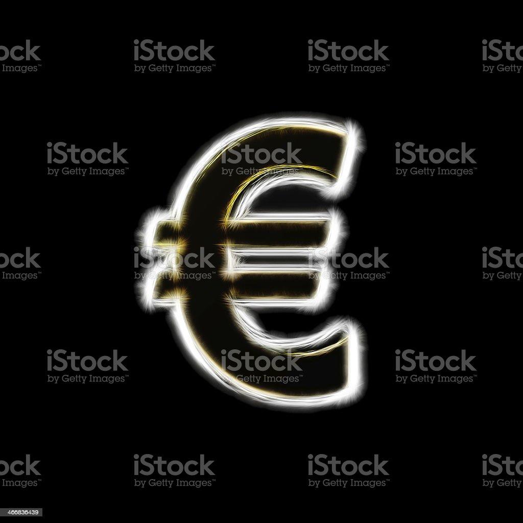 Euro sign fractal artwork royalty-free stock photo