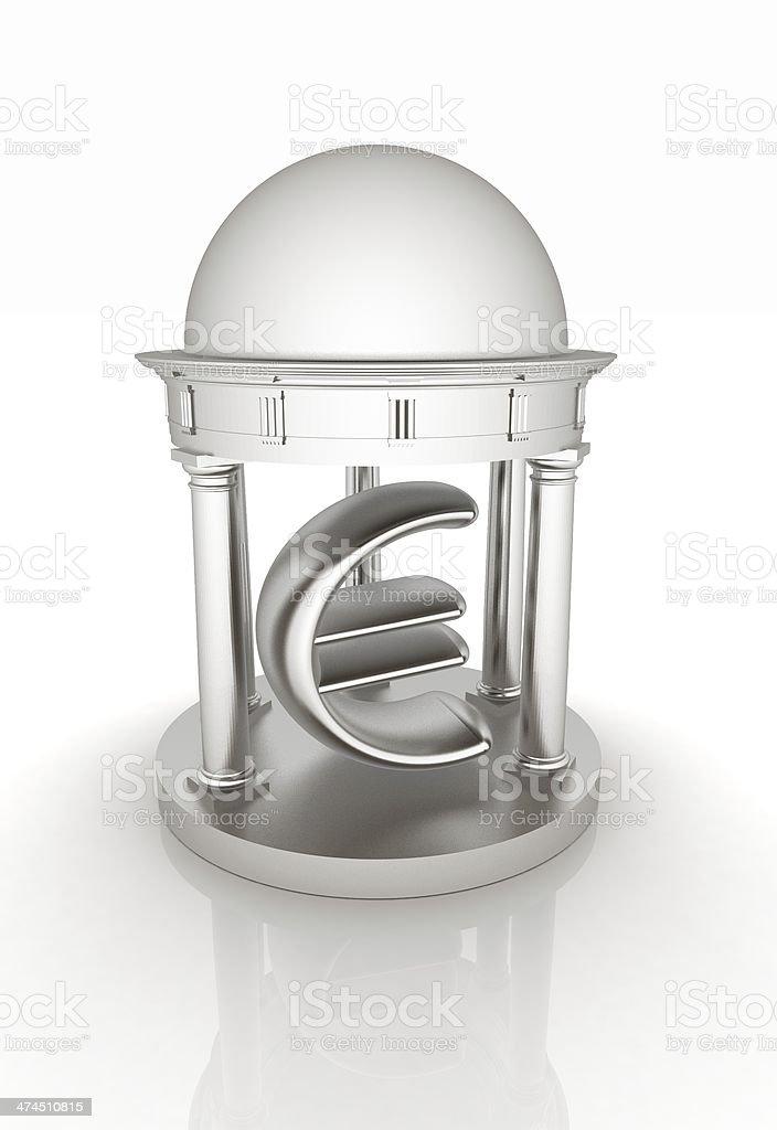 Euro sign in rotunda royalty-free stock photo