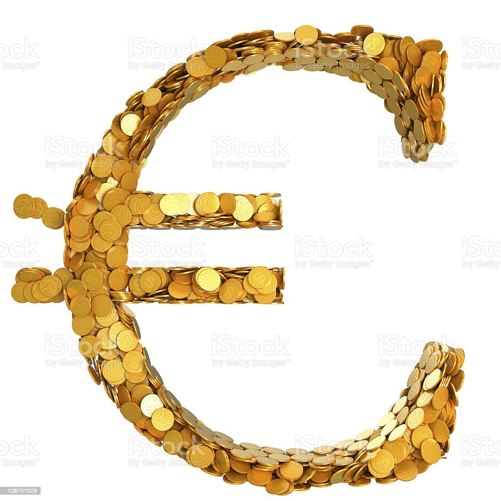 Euro stability. Symbol assembled with coins royalty-free stock photo