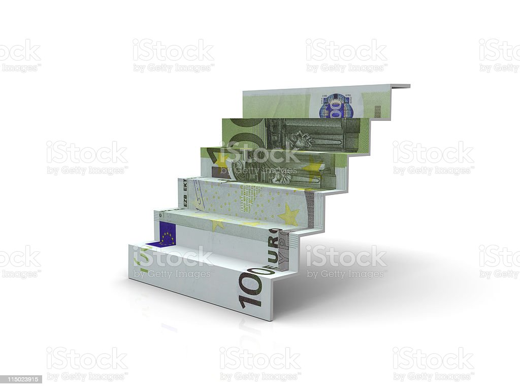 Euro Stair royalty-free stock photo