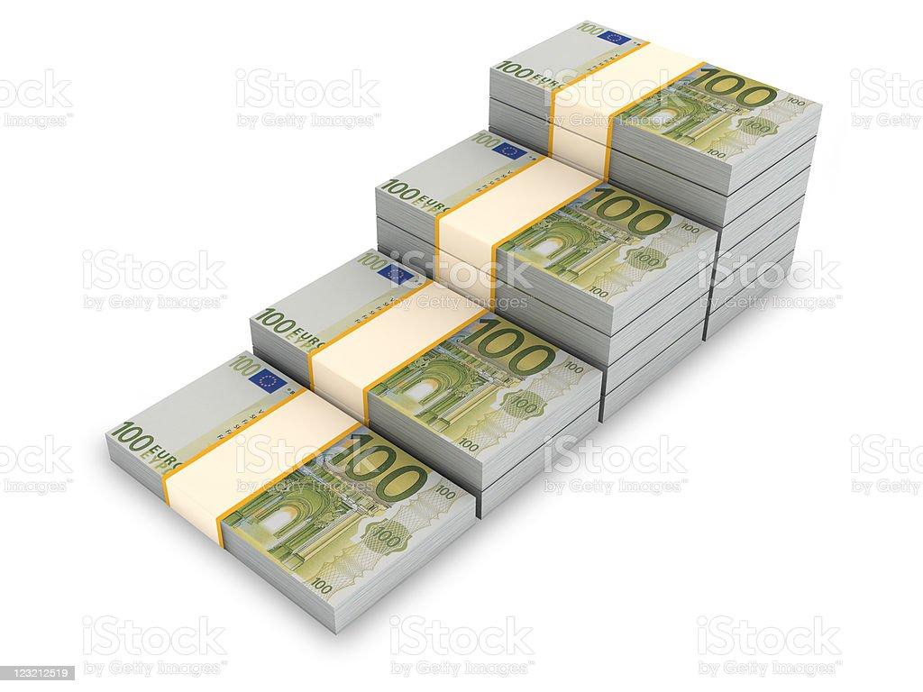 Euro Stair. stock photo