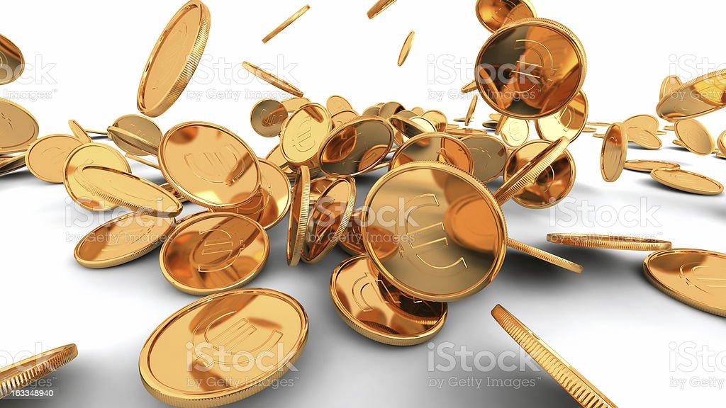 Euro stream royalty-free stock photo