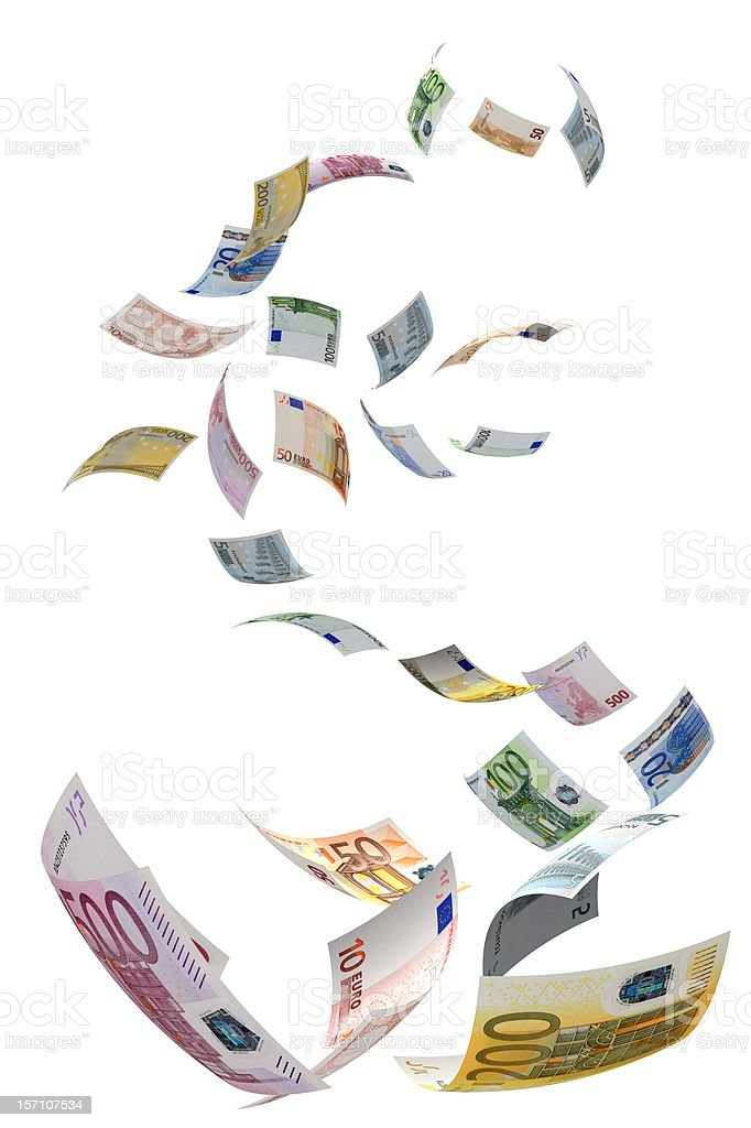 Euro Symbol Fall stock photo