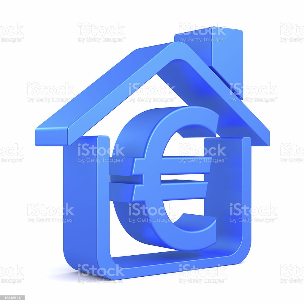 Euro Symbol house royalty-free stock photo