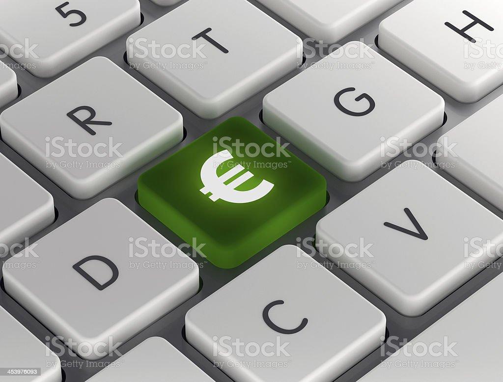 Euro Symbol on Keyboard royalty-free stock photo