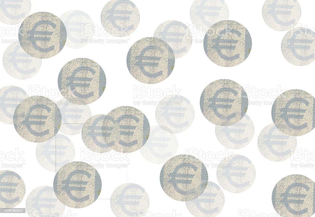 Euro Tapete stock photo