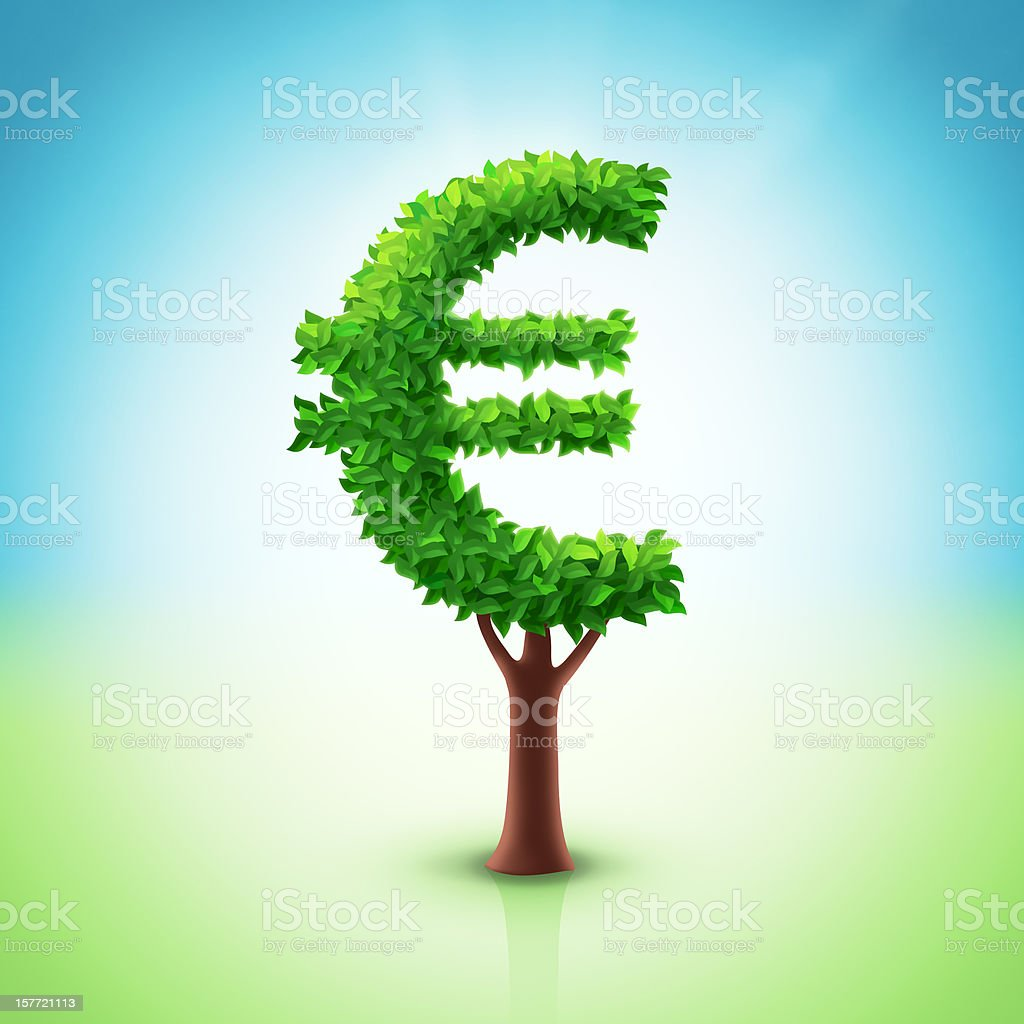 Euro tree stock photo