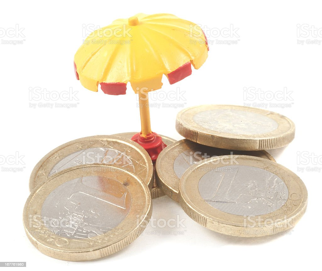 Euro Umbrella stock photo