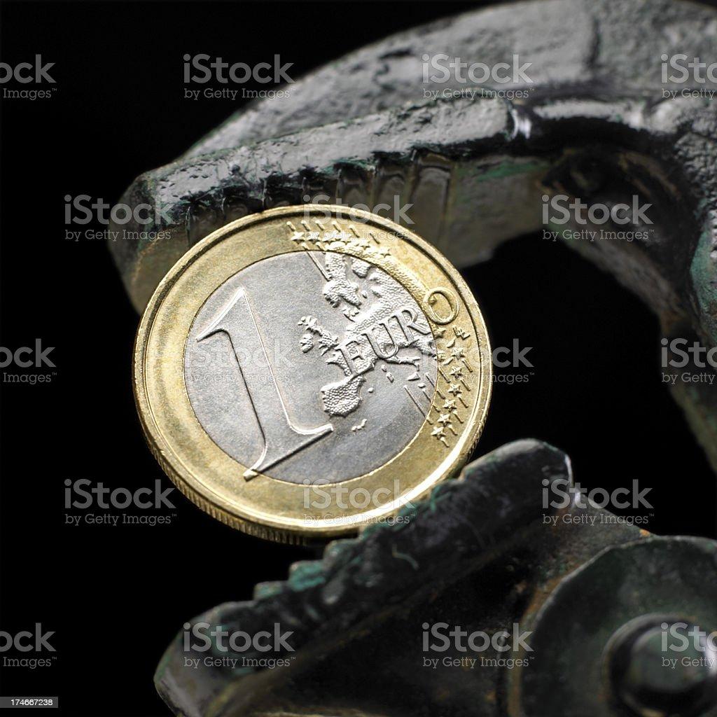 Euro under pressure stock photo