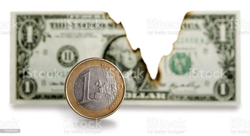 Euro vs U.S. Dollar stock photo