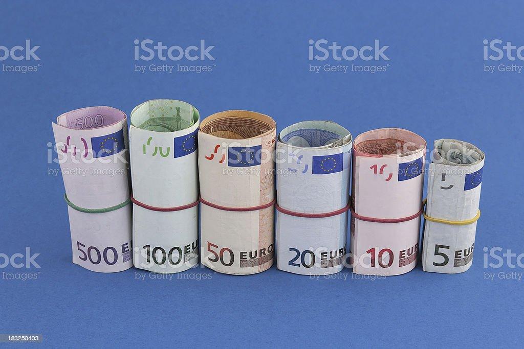 Euro wad stock photo