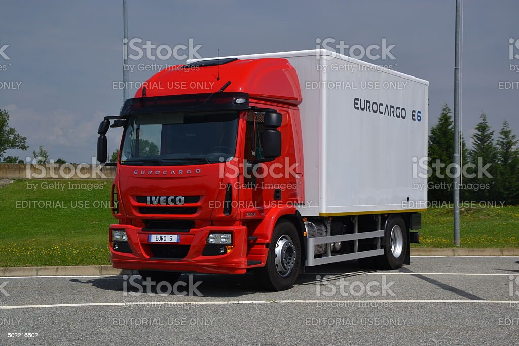 IVECO Eurocargo on the parking stock photo