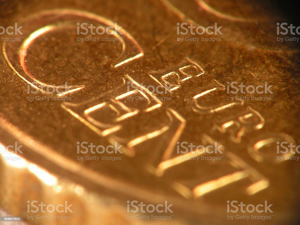 eurocent coin super macro royalty-free stock photo