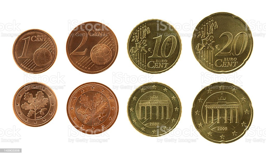 Eurocents Collection royalty-free stock photo